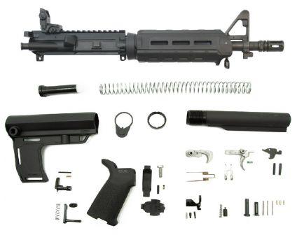 """PSA 10.5"""" Carbine-Length 5.56 NATO 1/7 Nitride MFT Battlelink MOE EPT Pistol Kit w/MBUS Rear, Black"""