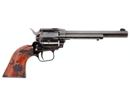 "Heritage Pistol Rough Rider 22lr 6rd 6.5"" Revolver w/ Palmetto Tree/Moon - RR22B6WBRN12"
