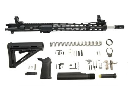 "PSA 16"" Mid-Length 1/7 Stainless Steel 13.5"" Lightweight M-lok MOE EPT Rifle Kit w/MBUS Sight Set"