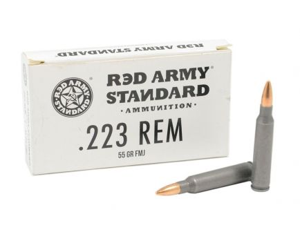 Red Army Standard .223 Remington Steel Cased 55gr FMJ 20rd Box Ammo - AM3269