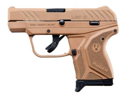 """Ruger LCP II 380acp 6rd 2.75"""" Pistol, FDE - 3786"""