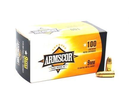 Armscor 9mm 115gr FMJ Ammunition 100 Rounds - 50444