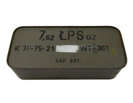 Polish 7.62x54R 147gr FMJ LPS Ammunition 440rd Spam Can - P54R