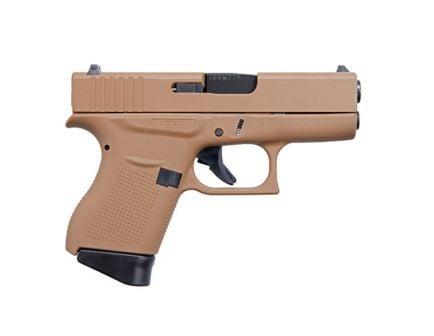 "Glock G43 9mm 6rd 3.39"" Pistol, FDE - ACG-00825"