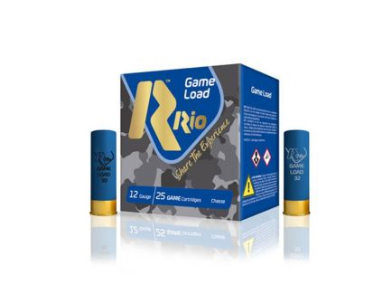 "Rio Top Game High Velocity 2 3/4"" 12 Gauge Ammo #6, 25/Box - TGHV366"