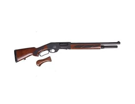 "Black Aces Tactical 12ga 6rd 18.5"" Lever Action Shotgun, Walnut - BATPSLW"