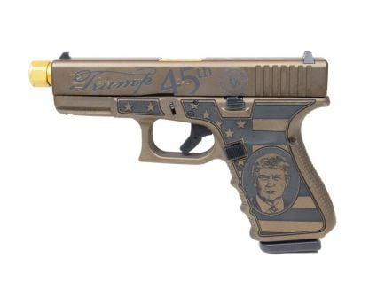 "Glock G19 Gen4 Compact ""Trump"" Edition 9mm Pistol, Threaded Barrel"