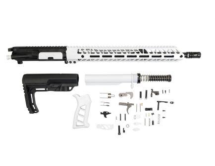 """PSA 16"""" 5.56 NATO 1/7 Mid-Length Nitride 15"""" Lightweight M-Lok Timber Creek Enforcer EPT Rifle Kit, White"""