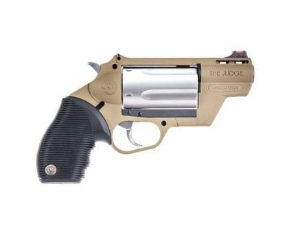 """Taurus Judge Public Defender 410 bore / 45 Colt 5rd 2"""" Revolver, FDE - 2-441029FDE"""