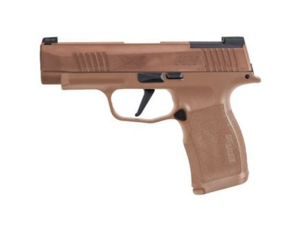 "Sig Sauer P365XL 9mm 3.7"" NRA Edition Pistol, Coyote Tan w/ Night Sights - 365-9-COYXR3-NRA19"
