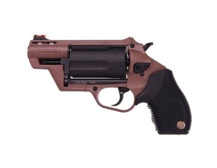 "Taurus Judge Public Defender 5rd 2"" 410 Bore / 45 Colt Revolver, Brown/Black- 2-441021B"