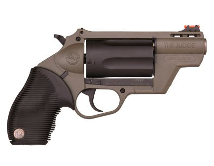 "Taurus Judge Public Defender 5rd 2"" 410 Bore/45LC Revolver, OD Green - 2-441021ODG"