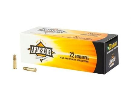 Armscor 36gr High Velocity HP 22LR Ammo, 500rd Brick