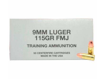 CCI 115gr FMJ 9mm Ammo, 50rds - 95000