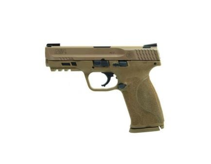 "Smith & Wesson M&P M2.0 17rd 4.25"" 9mm Pistol w/ TruGlo TFX Sights, FDE - 11767"