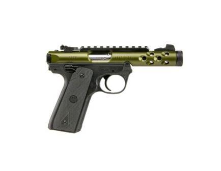 """Ruger Mark IV 22/45 LITE 4.4"""" 10rd .22lr Pistol, Green/Black - 43916"""