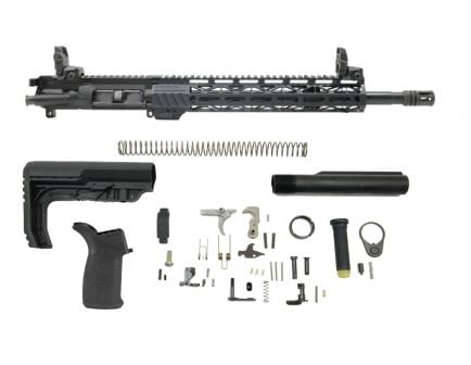 "PSA 16"" Pistol-Length 300AAC Blackout 1/8 Phosphate 13.5"" Lightweight M-Lok MFT EPT Rifle Kit w/MBUS Sight Set"