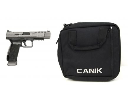 CANIK TP9SFX 9MM PISTOL, TUNGSTEN & CANIK DOUBLE PISTOL SOFT CASE