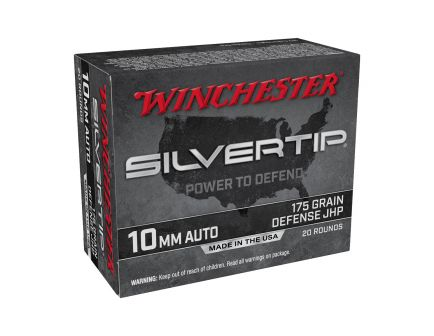 Winchester Silver Tip 175gr HP 10mm Ammo ,20rd - W10MMST
