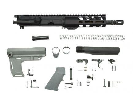 "PSA 7.5"" 5.56 NATO 1/7 Phosphate 6"" Lightweight M-Lok Classic MFT Battlelink Pistol Kit, Gray"