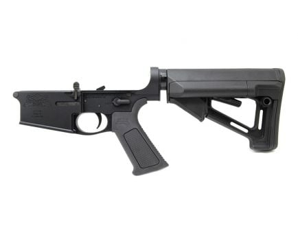 PSA Gen3 PA10 Forged Complete STR SSA-E .308 Lower With Over Molded Grip