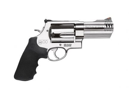 """Smith & Wesson Model 500 4"""" 5rd 500 S&W Magnum Revolver, Stainless Steel - 163504"""