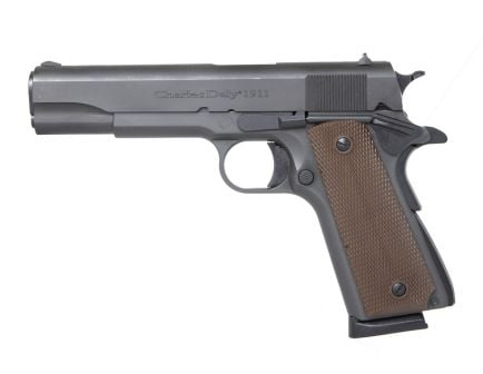 Charles Daly .45ACP 1911 Pistol, Black w/ Brown Checkered Grips - 440112