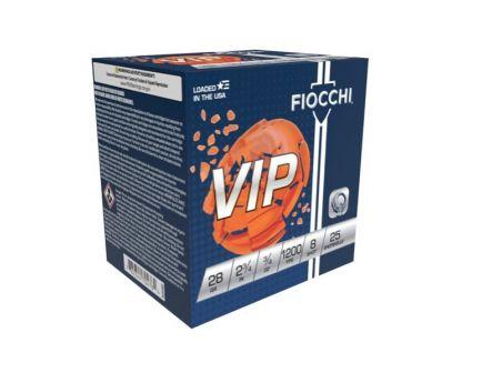 "Fiocchi Premium Target 28 Gauge 2-3/4"" 8 Shot 3/4 oz Shotshell, 25/Box - 28VIP8"