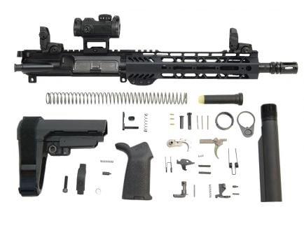 "PSA 10.5"" Carbine-Length 5.56 NATO 1/7 Phosphate 9"" Lightweight M-Lok MOE EPT SBA3 Pistol Kit w/MBUS Sight Set & Romeo MSR"