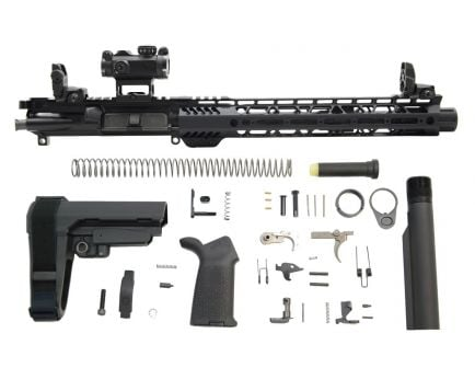 "PSA 10.5"" Carbine-Length 5.56 NATO 1/7 Phosphate 12"" M-Lok MOE EPT SBA3 Pistol Kit with MBUS Sight Set & Romeo MSR"
