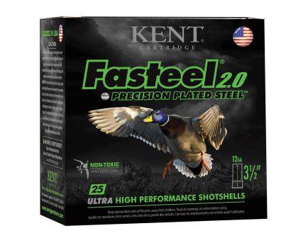 "Kent Fasteel 2.0 Precision Plated Steel 12 Gauge 2-3/4"" 3 Shot 1-1/4 oz Shotshell, 25/Box - K122FS36-3"