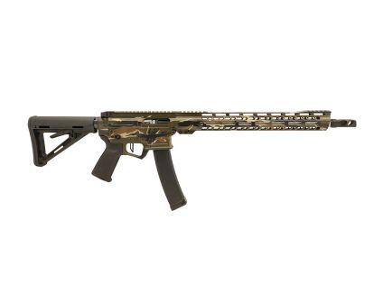 "PSA Custom 9mm AR-V 16"" Competition Ready PCC Rifle w/3.5 Lb Match Trigger, LSA Comp, Ambi Short/Long Safety, & Ambi CH - Tiger Stripe"