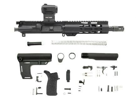 "PSA 8.5"" Pistol-length 300AAC 1/8 Phosphate 7"" Lightweight M-Lok Classic MFT Battlelink Pistol Kit with Holosun Red Dot"