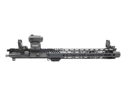 """PSA 10.5"""" Carbine-Length 5.56 NATO 1/7 Phosphate 12"""" M-Lok Upper with BCG, CH, MBUS Sight Set, & Holosun Red Dot"""