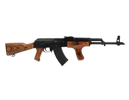 PSA AK-D GF3 Nutmeg Wood Rifle with Cheese Grater Upper Hand Guard and Wooden Dong