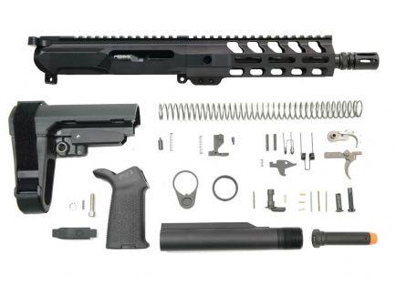 """PSA Gen4 8"""" 9mm 1/10 Nitride 7"""" Lightweight M-lok Railed MOE EPT SBA3 Pistol Kit"""