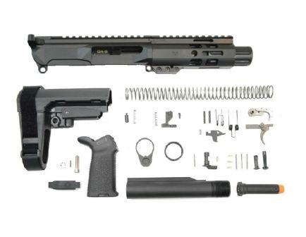 """PSA Gen4 4"""" 9mm 1/10 Nitride 5"""" Lightweight M-lok Railed MOE EPT SBA3 Pistol Kit"""