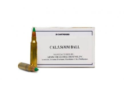 Armscor Copper FMJ 62gr 5.56mm Ammo, 20 rounds - 50173