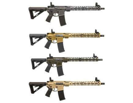 "PSA Custom 5.56 NATO 16"" Nitride 15"" MLOK Rifle w/ 3.5lb Curved Bow FCG"