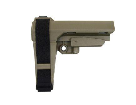 SB Tactical SBA-3 Adjustable Brace, OD Green