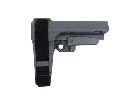 SB Tactical SBA-3 Adjustable Brace, Gray