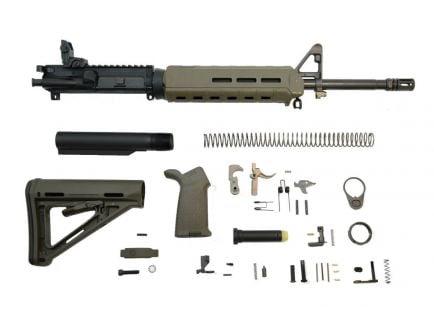 "PSA 16"" Mid-Length 5.56 NATO 1/7 Phosphate MOE EPT Rifle Kit With MBUS Rear, ODG"