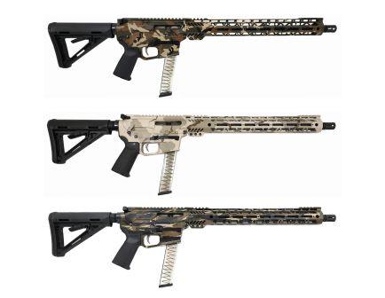 "PSA Custom PX-9 9MM 16"" Nitride 15"" Cross-Cut PCC Rifle w/ EPT FCG"