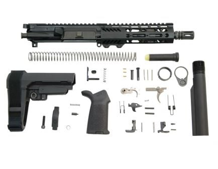 "PSA 7.5"" 5.56 NATO 1/7 Phosphate 7"" Lightweight M-Lok MOE EPT SBA3 Pistol Kit"