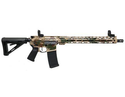 "PSA Custom Rhodestroke 5.56 NATO Carbine-Length 16"" Phosphate 15"" Cross-Cut MLOK MOE Rifle w/ Ambi Safety, MBUS, & 3.5 Flat Bow FCG"