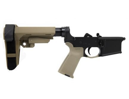 PSA AR-15 Complete Blem MOE SBA3 Pistol Lower, FDE