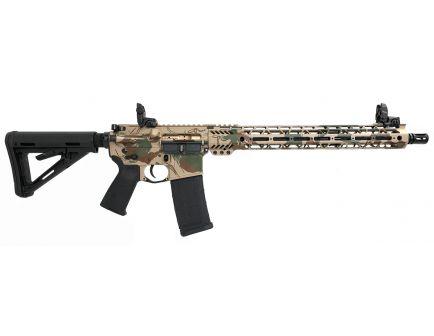 "PSA Custom Rhodestroke 5.56 NATO Carbine-Length 16"" Phosphate 15"" Cross-Cut MLOK MOE Rifle w/ Ambi Safety, MBUS, & 3.5 Curved Bow FCG"