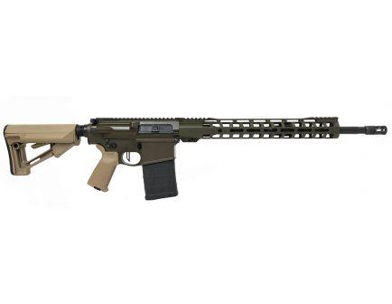 "PSA Custom .308 WIN 20"" Teflon Coated SS 1/10 15"" Slim-Line MLOK STR Rifle w/ Flat Bow FCG & Ambi Safety"