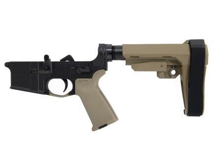 BLEM PSA AR-15 Complete Stealth MOE SBA3 Pistol Lower, FDE