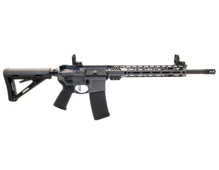 "PSA Custom 5.56 NATO 16"" Phospate Carbine-Length 12"" Cross-Cut Rifle w/ 3.5lb Flat Bow FCG, Ambi Safety & MBUS - Gray"